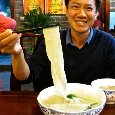 Yan @ First Noodle Under the Sun, Xi'an, biang biang mien